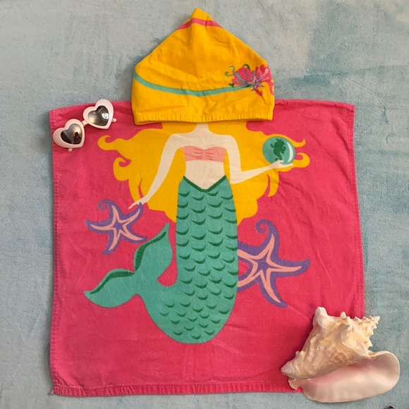 Summer Beachtowel Mermaid Hooded Beach Towel